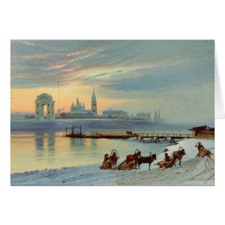 Cartes Le remblai d'Angara à Irkoutsk, 1886