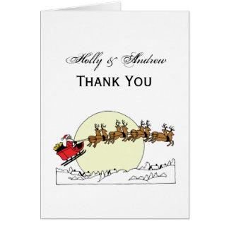 Cartes Le renne de Père Noël au-dessus de la neige a