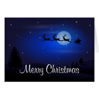 Cartes Le renne de Père Noël de bonne année de Joyeux