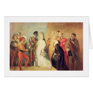 Cartes Le retour d'Othello, Loi II, scène II de 'Othe