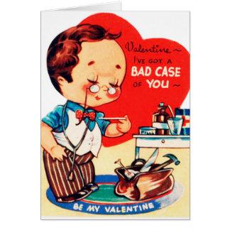 Cartes Le rétro docteur vintage de Valentine ajoutent la