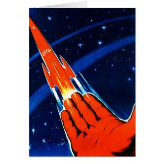 Cartes Le rétro espace vintage de Soviétique de Sci fi
