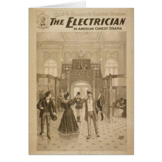Cartes Le rétro théâtre d'électricien