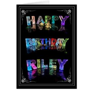 Cartes Le Riley nommé dans 3D s'allume (la photographie)