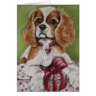 Cartes Le Roi cavalier Charles Christmas Puppy