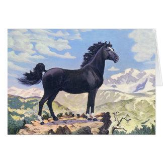 Cartes Le Roi noir Of The les Rocheuses d'étalon