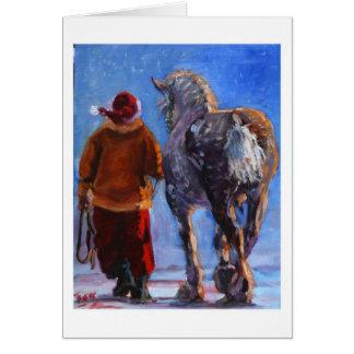 Cartes Le rouleur de Père Noël par S. Fuess