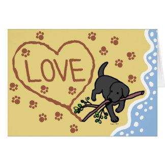 Cartes Le sable noir de Labrador marque avec des lettres