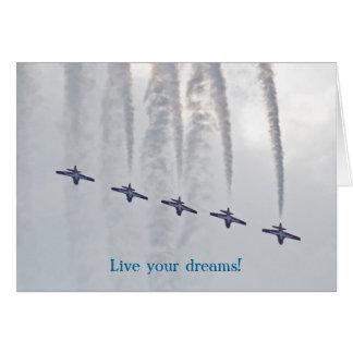 Cartes Le salon de l'aéronautique vivent vos rêves