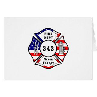 Cartes Le sapeur-pompier 9/11 n'oublient jamais 343