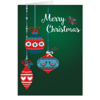 Cartes Le Scandinave ornemente le Joyeux Noël