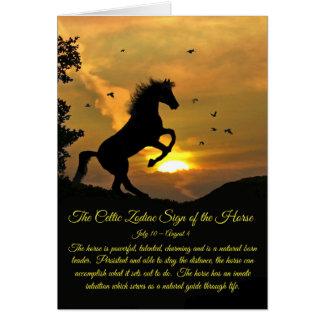 Cartes Le signe celtique de zodiaque de l'anniversaire de