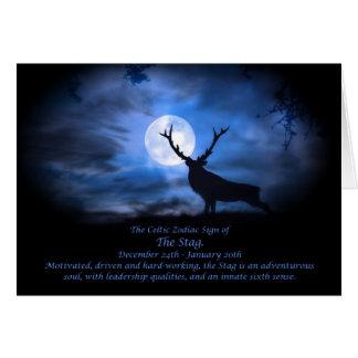 Cartes Le signe celtique de zodiaque du mâle