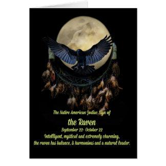 Cartes Le signe de zodiaque de Natif américain de la