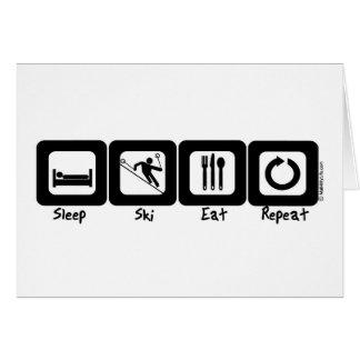 Cartes Le ski de sommeil mangent la répétition
