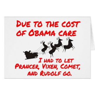 Cartes Le soin d'Obama affecte Père Noël