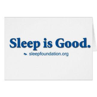 Cartes Le sommeil est bon