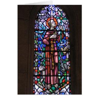 Cartes Le St Francis du verre souillé d'Assisi