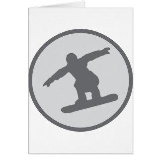 Cartes le surfeur de snowboarding sautent