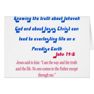 Cartes Le témoin John14-6 de Jéhovah