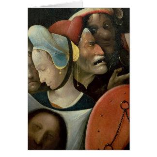 Cartes Le transport de la croix montrant trois visages
