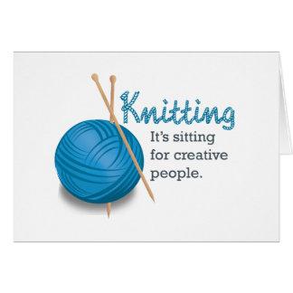 Cartes Le tricotage… de lui se repose pour les personnes