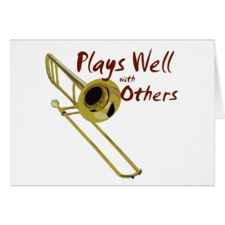 Cartes Le trombone joue bien