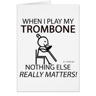 Cartes Le trombone rien d'autre importe