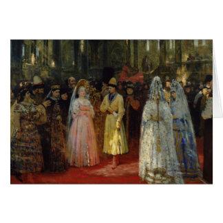 Cartes Le tsar choisissant une jeune mariée, c.1886