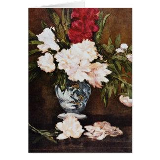 Cartes Le vase rouge de pivoines, Edouard Manet fleurit