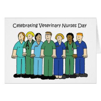 Cartes Le vétérinaire soigne le jour