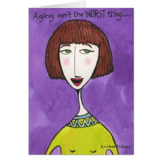 Cartes Le vieillissement n'est pas la plus mauvaise
