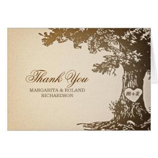 Cartes le vieux mariage de chêne vous remercient des