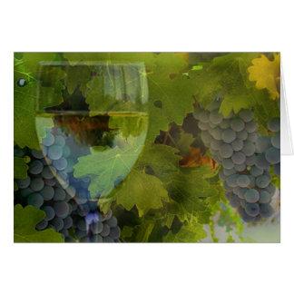 Cartes Le vin et le raisin vous remercient