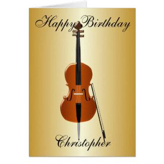 Cartes Le violoncelle ajoutent juste l'anniversaire nommé