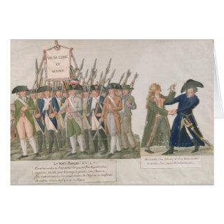 Cartes Le voeu français 'vivent longtemps liberté ou Die