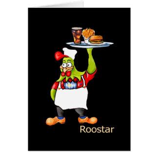 Cartes le waiter* de la barre *Roostar