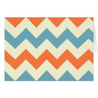 Cartes Le zigzag bleu orange de chevron barre le motif de