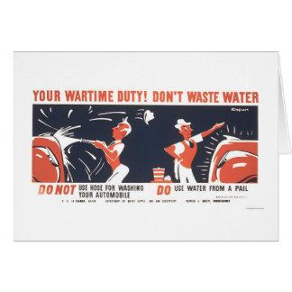 Cartes L'eau est 2ÈME GUERRE MONDIALE important WPA 1942