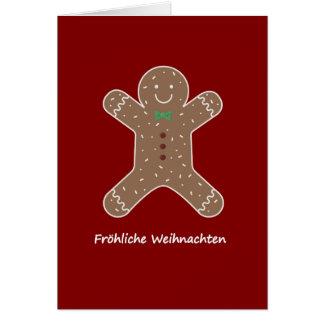 Cartes Lebkuchenmann Fröhliche Weihnachten