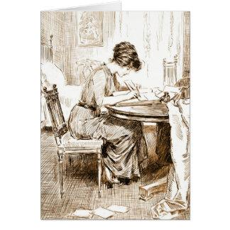 Cartes L'écriture de femme marque avec des lettres 1911
