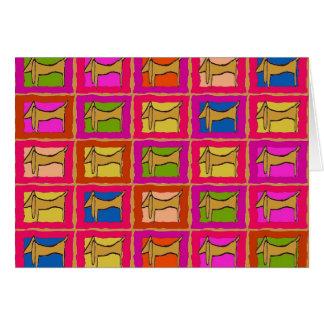 Cartes L'édredon de teckel a couvert de tuiles des chiens
