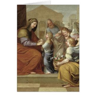 Cartes L'éducation de la Vierge, 1658