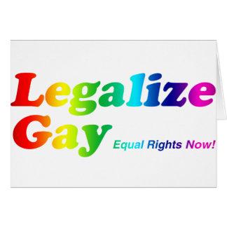 Cartes Légalisez l'homosexuel