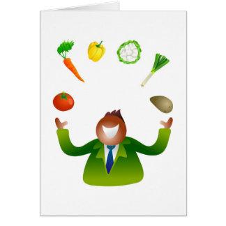 Cartes Légumes de jonglerie d'homme