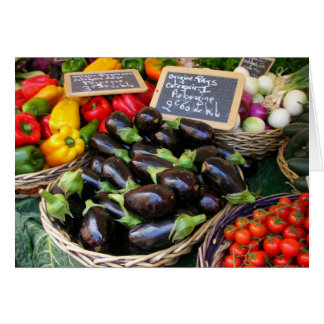 Cartes Légumes Nice au marché de fruit, France
