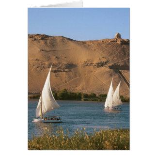 Cartes L'Egypte, Assouan, le Nil, voiliers de Felucca,