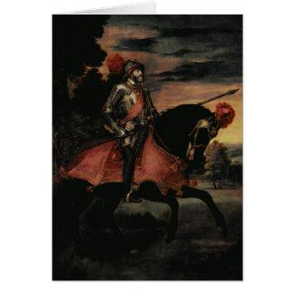 Cartes L'empereur Charles V à cheval