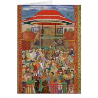 Cartes L'empereur de accueil Jahangir de cour