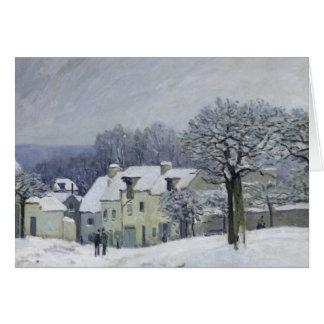 Cartes L'endroit du Chenil à Marneux-le-ROI, neige, 1876